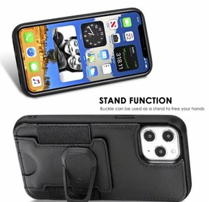 2020 Pu Leather Phone Case Cover With Magnetic Ring Bracket Stand Holder For Iphone 11 12 Pro Max Xs Max wmtesC infant2005