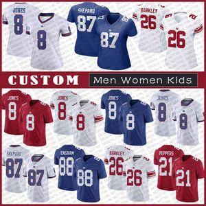 8 دانيال جونز نيويوركعملاق الرجال مخصص للنساء كيد كرة القدم جيرسي 26 Saquon باركلي 87 الاسترليني شيبرد Jabrill الفلفل كزافييه ماكيني