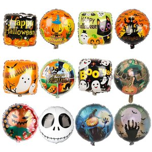 1pc 18inch Halloween Pumpkin Ghost Balloons Halloween Decorations Foil Inflatable Toys Bat Globos Happy Party Supplies