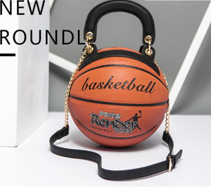 Bag women 2020 new trend round women's bag basketball shape personality creative single shoulder chain diagonal bag