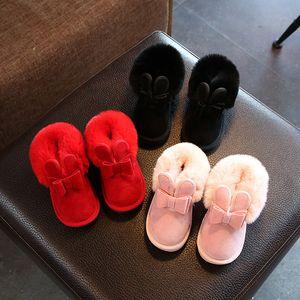 2020 Inverno Bambini Moda Stivali da neve Stivali da neve spessa Scarpe in cotone caldi Soft Bottom Boys Girls Boots inverno stivale da sci