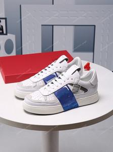 Valentino shoes Perfect Rock Runner Camouflage Leder Turnschuhe Männer, Frauen luxe Mode Stil Rock Studs Außen CAMUSTARS Trainer Freizeitschuhe
