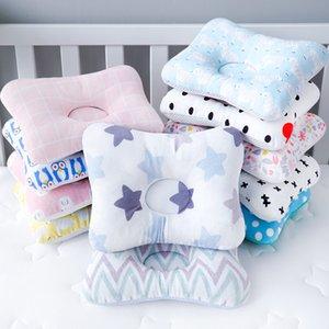 Cabeça proteção almofada almofada recém-nascido bebê crianças travesseiros animais impresso algodão crianças almofadas de sono posicionador solo
