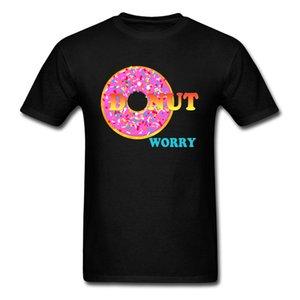Erkekler Fun T-shirt Moda Tshirt SEVGİLİLER GÜNÜ O Boyun Tüm Pamuk Giyim Kişiselleştirilmiş Tops için Tasarım Donut Endişe T Gömlek