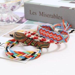 Теннис 4 шт. Богемные многоцветные браслеты для женщин многослойные этнические браслеты браслета этнического браслета