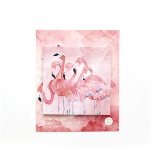 Mohamm 30 Sheets Cherry Blossom Flamingo Planner Stickers Sticky Notes Memo Pad Kawaii Stationery Memo Pads Note Pad Office F wmtPQl