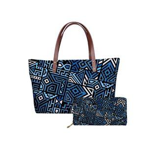 Teen Tasche Traditionelle Frau Handtaschen Blau Tribal Reisen benutzerdefinierte polynesische Tasche Druck Reißverschluss Damen Casual Girls für Hycool Iufer