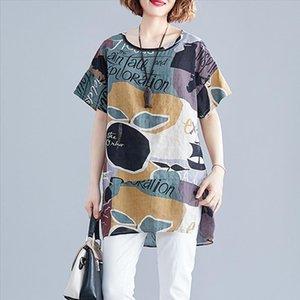 Supermiss mulheres verão camiseta solta impressa manga curta túnica tops plus size novo 2020 camisetas