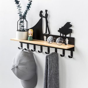 Wall Mount Hook Rail Coat Rack with 8 Stainless Steel Hooks Wall Hooks for Home Closet Organization for Hat Towel Purse Robes