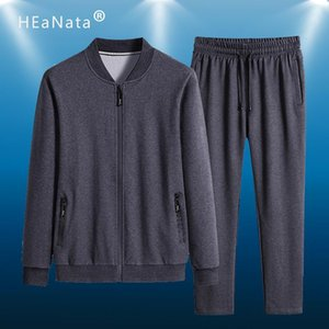 Спортивные костюмы Мужчины Спорт Бег костюм Полиэстер Baseball Сплошной цвет свитера Gyms куртка + брюки 2pcs Мужская Спортивная одежда Фитнес