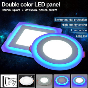 Double Color Led Panel Light 5w 9w 16w 24w Round Square Panel Led Ceiling Lamp Ac110v 220v Indoor Recessed Downlight Swy jllBtd Fight2010