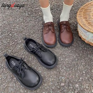 Spring Autumn Lolita Shoes Women Flats Mary Janes Patent Leather Oxford Shoes Black Girls Retro Casual zapatos muje #PW98