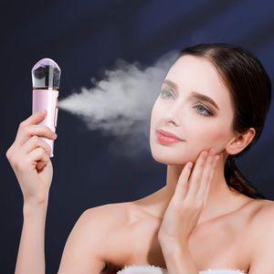 Nano Mist Sprayer Facial Steamers with Skin Analyzer Moisture Tester, Portable Facial Atomization Eyelash Extensions Steamer Mister