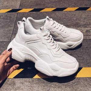 Tino Kino 2020 Yeni Kadın Lace Up Tıknaz Sneakers Rahat Vulkanize Moda Platformu Mesh Nefes Platformu Eğitmenler Ayakkabı # WH1I