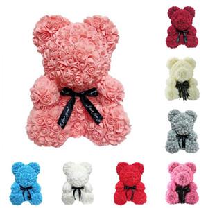 25 cm rose bear simulation flower creative gift soap rose teddy bear birthday gift hug bear T8G018 271 G2