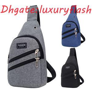 HBP LuxuosoFlash New Men Bag Peito Straddle Único Ombro Splash Prova Ao Ar Livre Headset Mochila