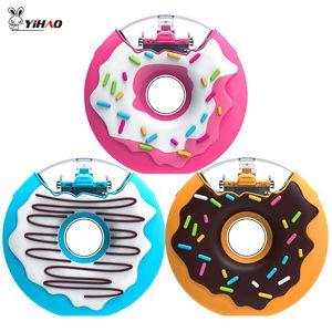 Yihao Cartoon Tritan Wasserflasche für Kinder BPA frei Donuts kreative Silikon tragbare Kessel mit Stroh 201106
