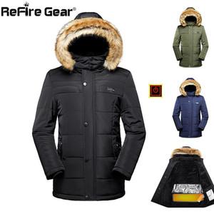 ReFire Gear Winter Warm Cotton Jacket Men Autumn Electric Heat Thicken Hoodie Jacket Casual Windbreaker Oversize Outwear Coats