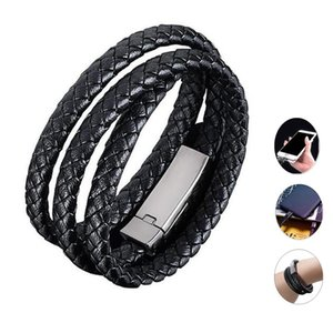 Charging Bracelet Charger Outdoor Portable Leather USB Fast Charge Data Cable Sync Cord For iPhone X XS Max XR 8 7 Plus 6S 6