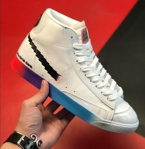 Blazer Mid '77 Vintage Have A Good Game Video Game Pixels new limited color matching, soft leather stitching, luminous full printing LOGO