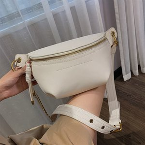 Fashion Women's Waist Bags New Ladies Shoulder Bag Brand Design Chest Bag Crossbody Bags High Quality PU Chain Fanny Pack 201006