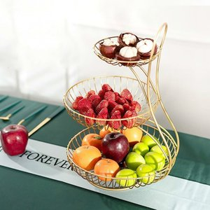 Double fruit tray living room home Nordic multi-layer dried fruit modern minimalist creative basket snack pot