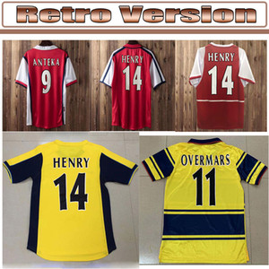 02 05 HENRY BERGKAMP V. PERSIE Mens RETRO Soccer Jerseys 94 97 VIEIRA MERSON ADAMS Home Away 3rd Football Shirt Short Long Sleeve Uniforms