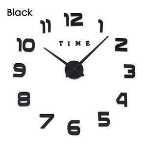 New Real Big Clock Watch Wall Clocks Horloge 3d Diy Acrylic Mirror Stickers Home Decoration Living Room Quartz Needle Times sqcsnz bdenet