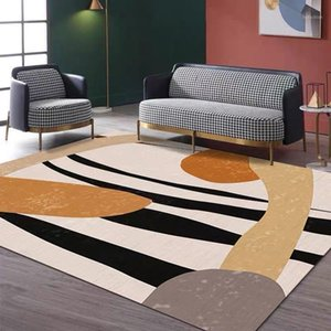 Геометрический напечатанный ковер в гостиной противоскользящий моющиеся большие коврики спальни прикроватная диван для приглашенного дивана на этаже