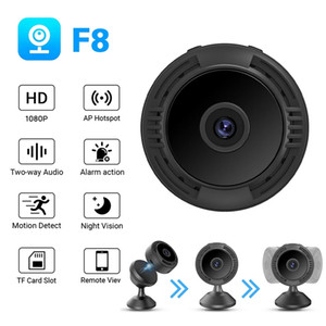 F8 Wifi Mini Camera HD 1080P Smartphone APP V380 Night Vision IP Home Security Video Cam DV Magnetic Holder Motion Detection Cameras PK A9