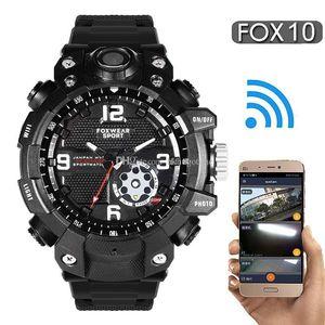 FOX10 Sports Outdoor 2K HD Wifi Camera Watch Remote Wireless Cameras Wristband LED Light IP67 Waterproof Watch Smart Watch 32G 64G