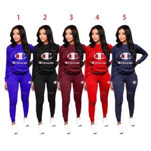 Frauen Zweiteiler Outfits Designer Anzug Letters Printed Kapu Long Sleeve Top-Taschen Hot Pant Sets Sportanzüge Sportwear