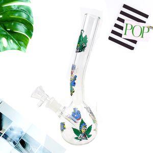 7.5 inch Mini Glass Bong Handmade Beaker Style Water Pipe Smoking Accessories (Funny)