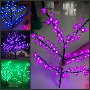 LED Cherry Blossom Tree branch 96pcs led 128pcs led 110 220VAC Waterproof Garden Landscape Decoration Lamp Outdoor Use fairy garden decor