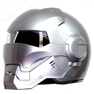 Maséi 610 Ironman Motorcycle Helmet Casque Motocross Mezza casco Personalità Open Face Trend Plan Bright Silver1
