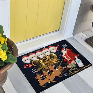 Navidad baño Mat Sala de estar Porche Puerta alfombra de la estera Mantas Planta cubierta de cuarentena supervivencia de la familia de la mascarilla decoraciones de Navidad E101301