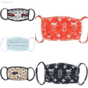 Algodón de seda de lujo MasksIn # 7467 cubrir la cara Diseñador DesignerMask MaskDust Boca Bbytt a prueba de polvo de hielo Herramientas Thfo Pm de la AntiWashable de lujo