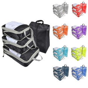 Compressed Luggage Storage Bags Portable Travel Luggage Bag Whole Set Waterproof Clothes Storage Bag Organizer sea shipping FFB4366