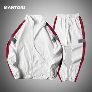 Толстовки набор толстовок 2020 весенний трексуит мужчины две части набор мужская одежда повседневная спортивная одежда + спортивные штаны наряды мода потеф LJ201117