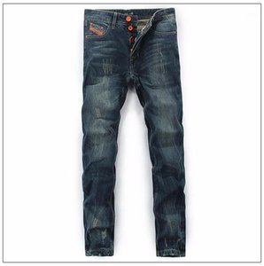 Balplein A estrenar Hombres Jeans Jeans rectos Jeans Algodón Color Sólido Hombres salvajes de buena calidad Pantalones casuales Envío gratis1