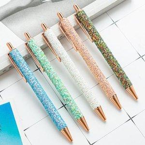 Ballpoint Pens Metal Pen Подарочная школа Письменные Инструменты Sequin Канцтовары Офисное оборудование Студенты Малыша