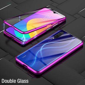 Vidrio templado de doble cara de absorción magnética de lujo para Xiaomi MI 9 MI9 SE Metal Teléfono Funda Atrás Funda XIAOMI9 MI9SE H SQCIDE