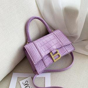 Couro de bagagem Tag Womens Corssbody Bag 2020 New All-Matching B Home Hourglass pacote de Internet celebridade mesmo couro PU crocodilo locomoção