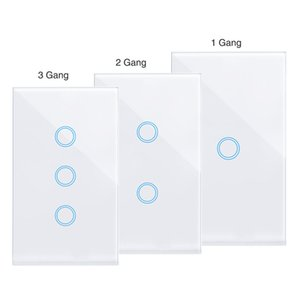 Wifi Smart Light Switch Touch Glass Panel US Remote Voice Control Smartlife No need Neture Line