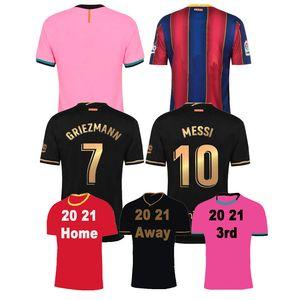 Novo 20 21 Jersey de futebol Ansu Fati F.De Jong 7 Griezmann 2020 2021 Coutinho Suarez Malcom Pique Vidal Men Fotebol Camisetas