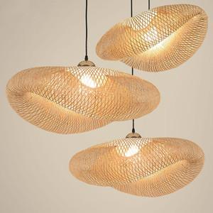 Modern Bamboo LED lampes suspendues Asie bois Lampe suspension Salon Diningroom Hôtel restaurant Cuisine Intérieur Déco Lampe suspendue