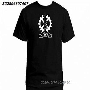 Israel Military Industries IMI UZI Fabricação 100% t-shirt de algodão superior preto 2111510