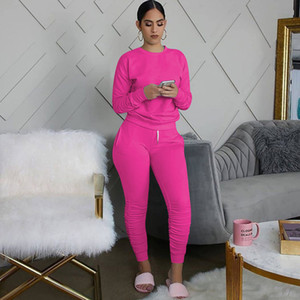 Fashion Women Tracksuit Designer Clothes 2021 Gradient Two Piece Outfits Jogging Suit Ladies New Fashion Casual Sportswear Dhl 22 Colors