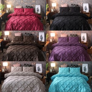 Solid Color Bedding Sets Quilt Cover Pillowslip Versatile Pulling Flowers Hot Sale Color Mix King Size 82xq K2