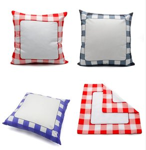 Blank Sublimation Plaid Pillowcase Thermal Transfer Printing Sudoku Pillow Case Cushion Cover Throw Pillow Sofa Home Decorations F102004